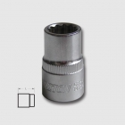 "HONITON Socket head 12PT flank, 1/2"", 22 mm"