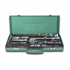 "HONITON Socket set , 1/4"", 1/2"", 59 pcs."