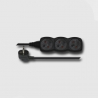 EMOS Cord extension 3 plugs 3m BLACK