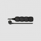 EMOS Cord extension black 4 plugs 5m