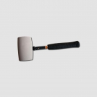 STAVTOOL Rubber mallet with steel handle, white rubber, 50 mm