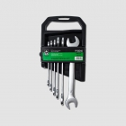GK TOOLS Double open end spanner set, satin finish, 6-17 mm, 6 pcs.