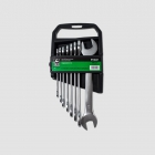 GK TOOLS Double open end spanner set, satin finish, 6-22 mm, 8 pcs.