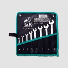 GK TOOLS Double open end spanner set 6-22 mm 8pcs