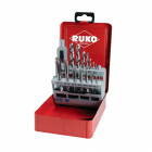 RUKO Hand tap and drill bit set HSS 15 pcs plastic