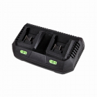 XTline Battery charger  li-ion 2X18V, 3,5 Ah